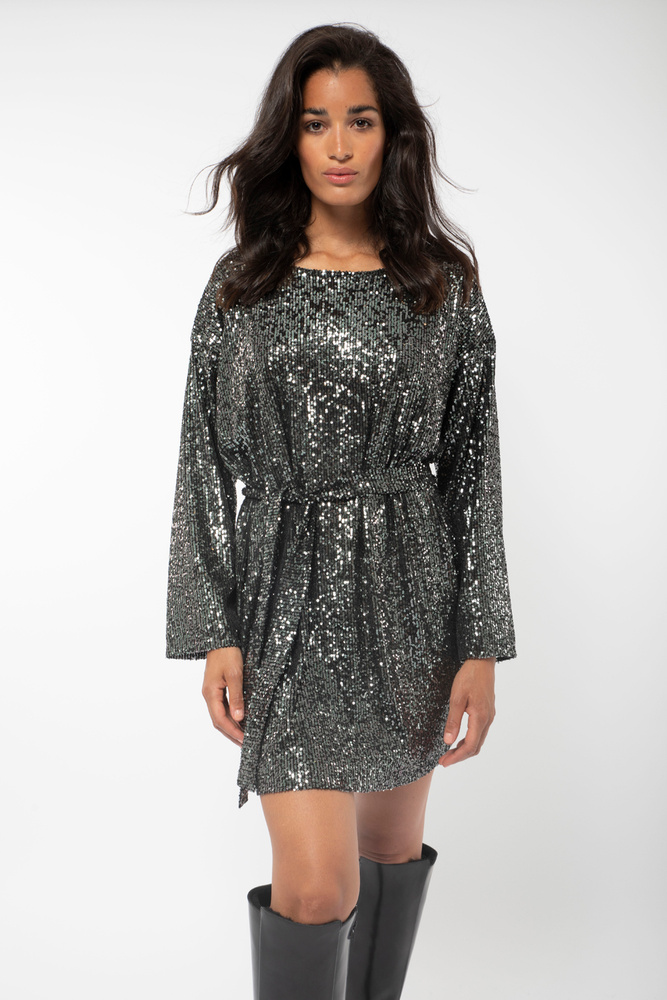 Cora Sequin Dress Night Sky