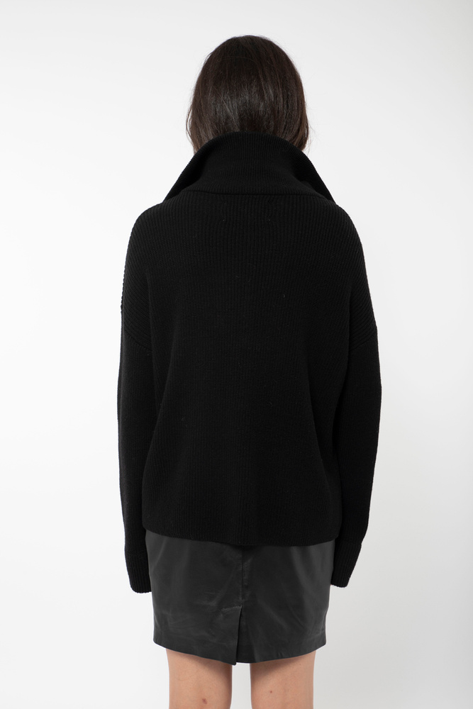 Nodi Rib Knit  Black