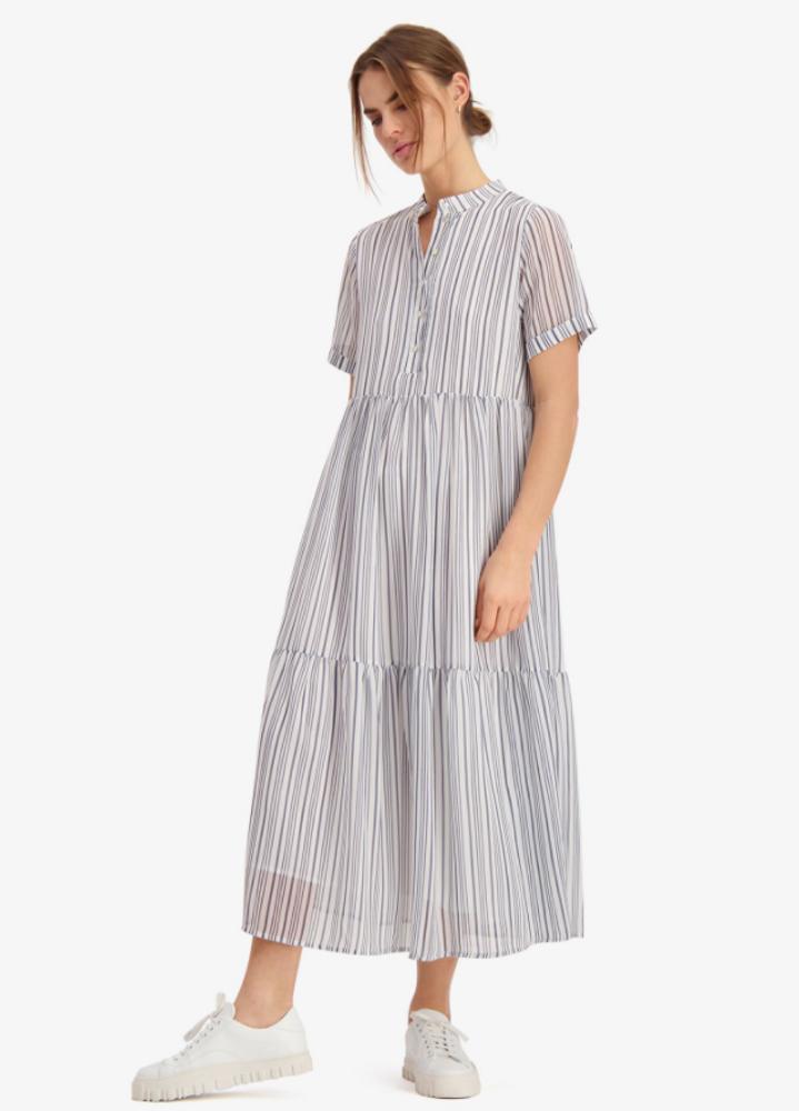 Flow Dress Blue Stripe