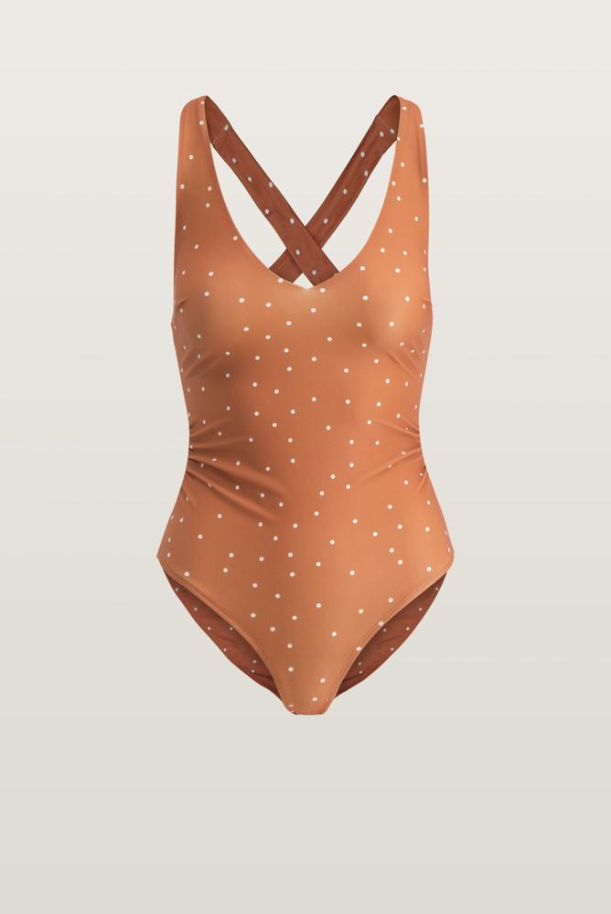 Joy Swimsuit Terracotta Dots