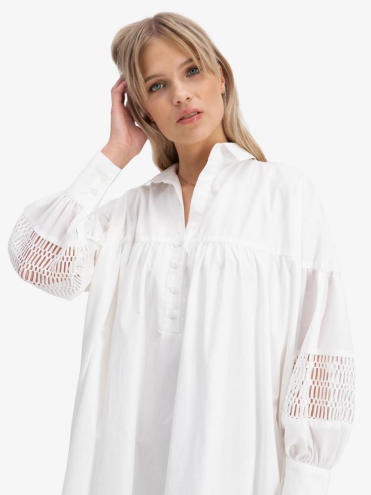 Mesima Dress White