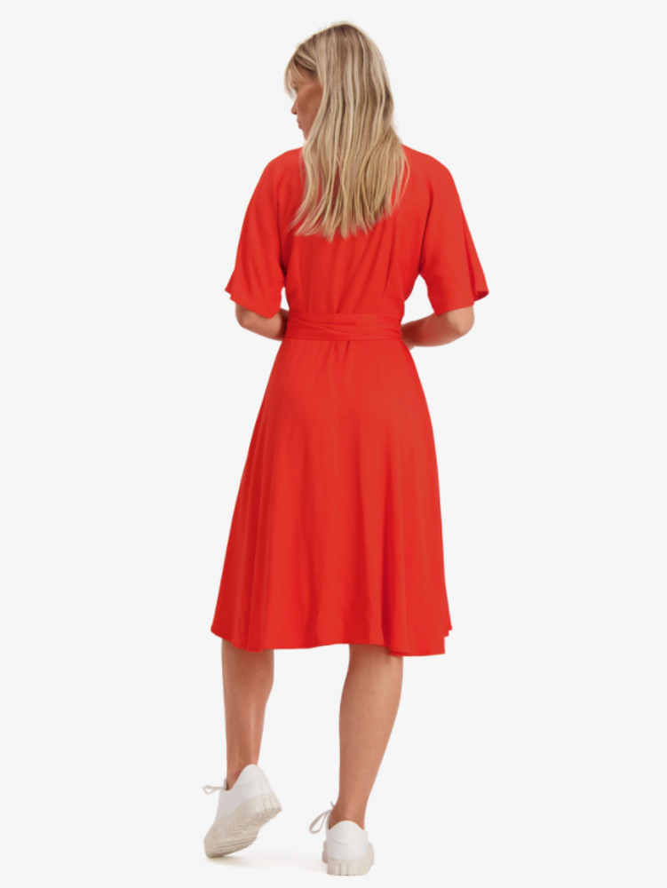 Osa Dress Bright Red