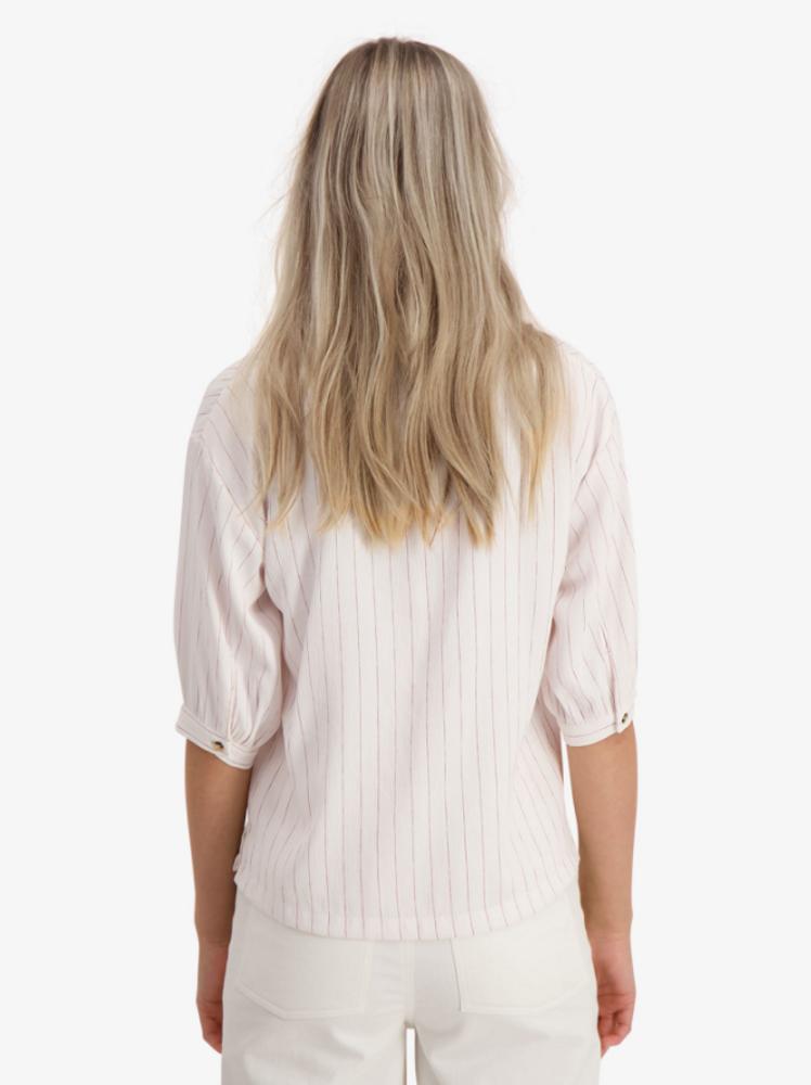 Solo Shirt White/Red Stripe