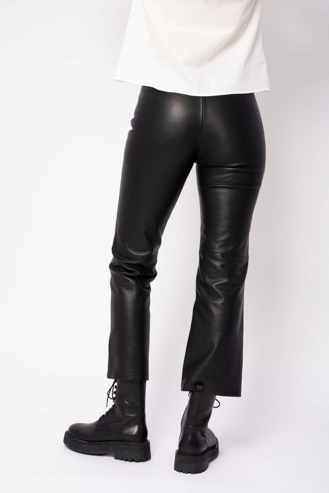 Rene Leather Trouser Black