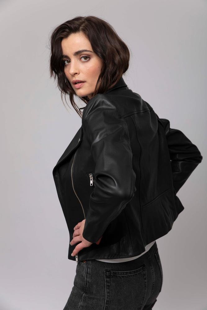 Kendra Leather Jacket Black
