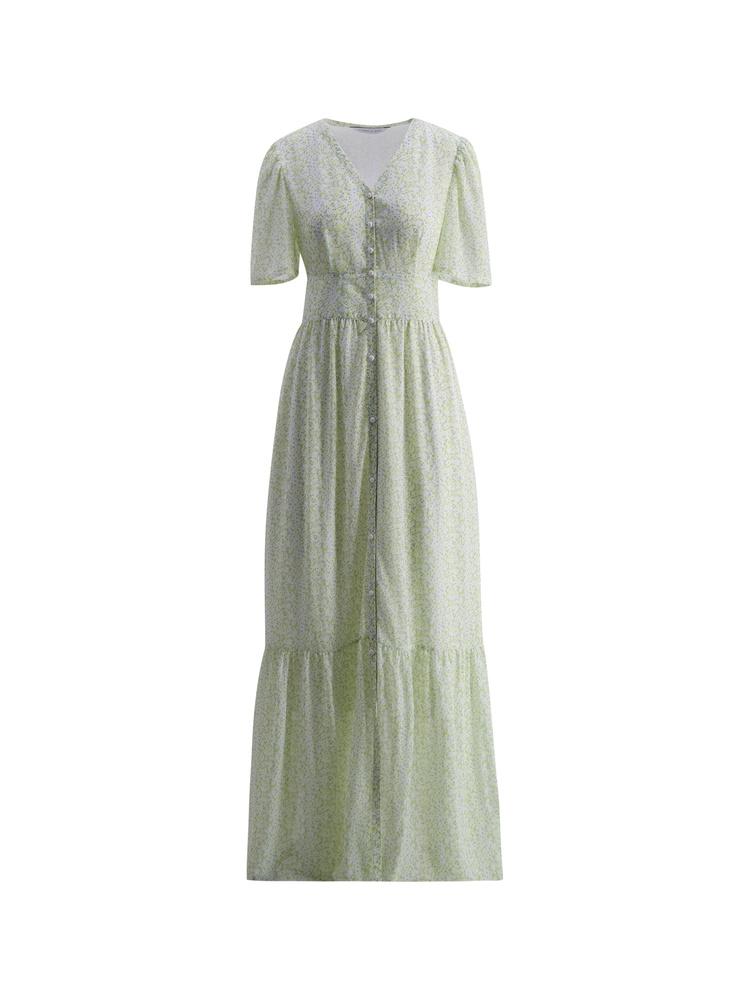 Sia Dress  Green flower