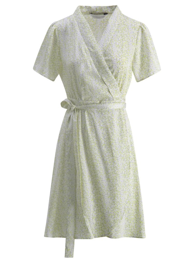 Eva Wrap Dress Green flower