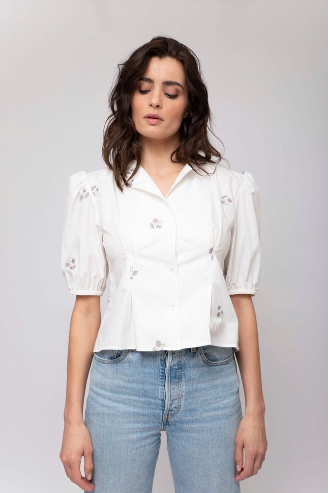 Tiffany Shirt Embroided Lilac
