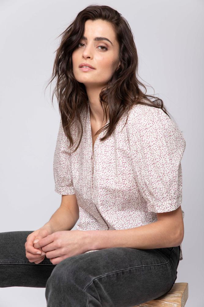 Harper Shirt  Lavender Print