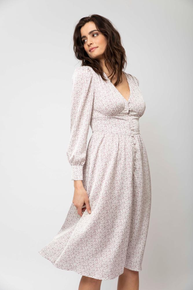 Ella Dress  Lavender Print
