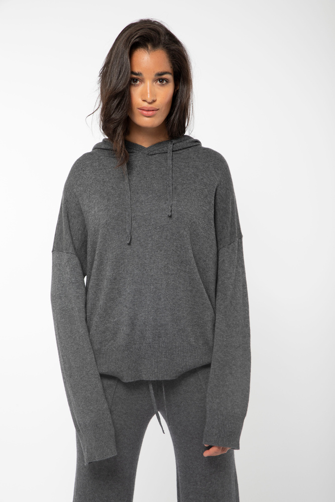 Multe Hoodie Knit Charcoal
