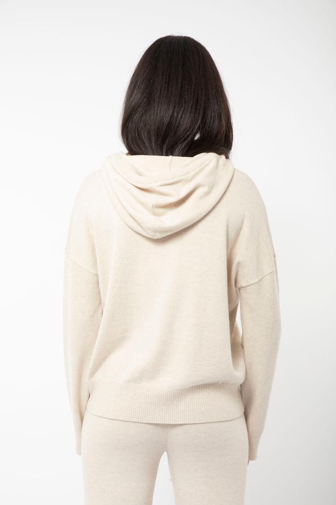 Multe Hoodie Knit Cream Melange