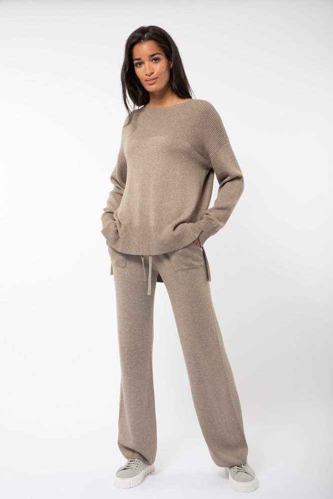 Butterfly Knit Taupe Melange