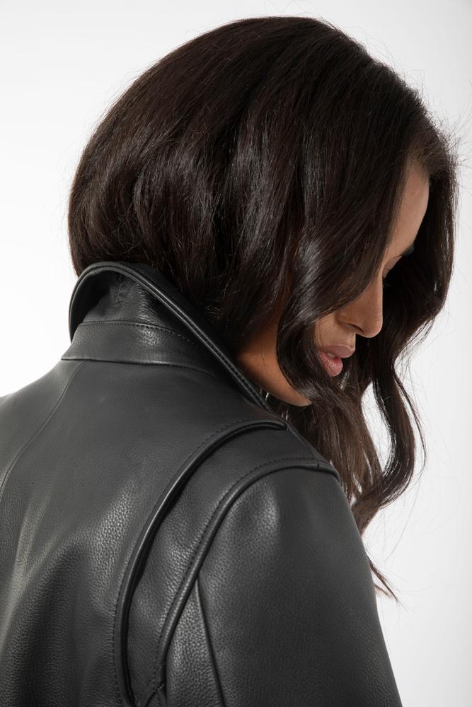 Soho Leather Jacket Black