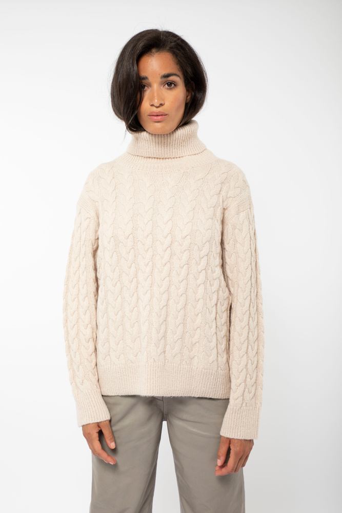 Frosted Cabel Knit  Cream