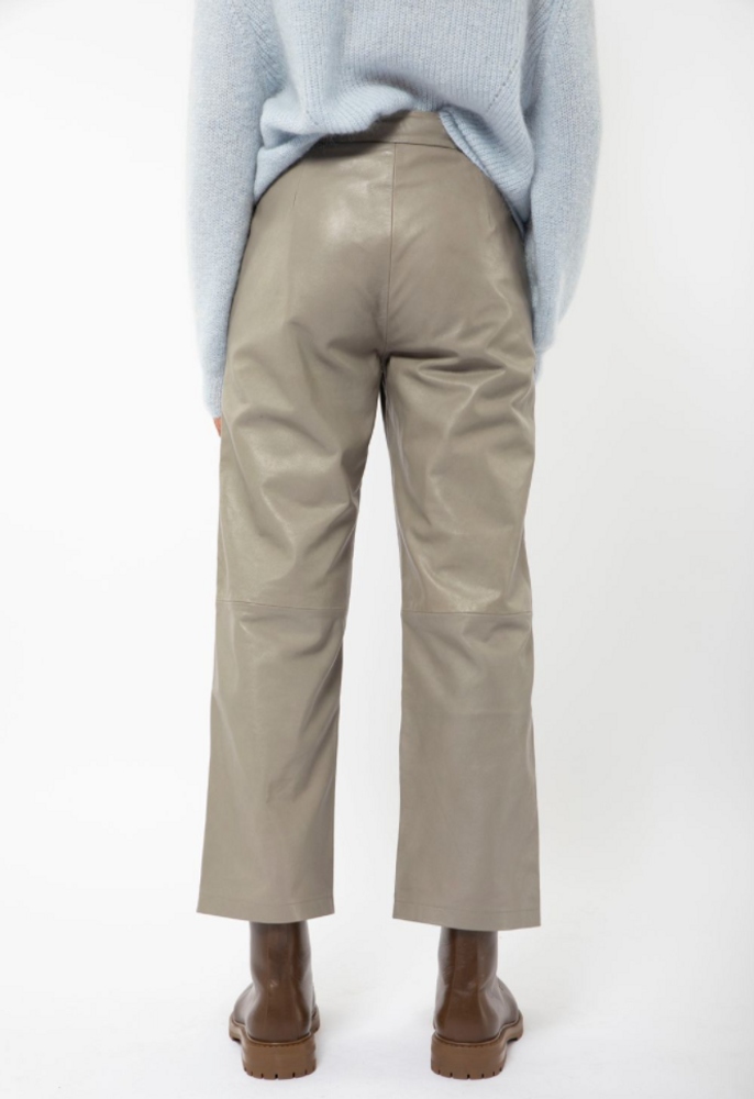 Rimo Leather Trouser Taupe