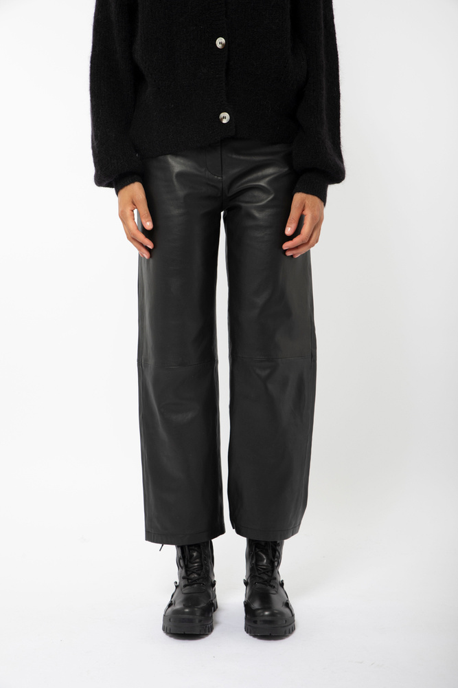 Rimo Leather Trouser Black