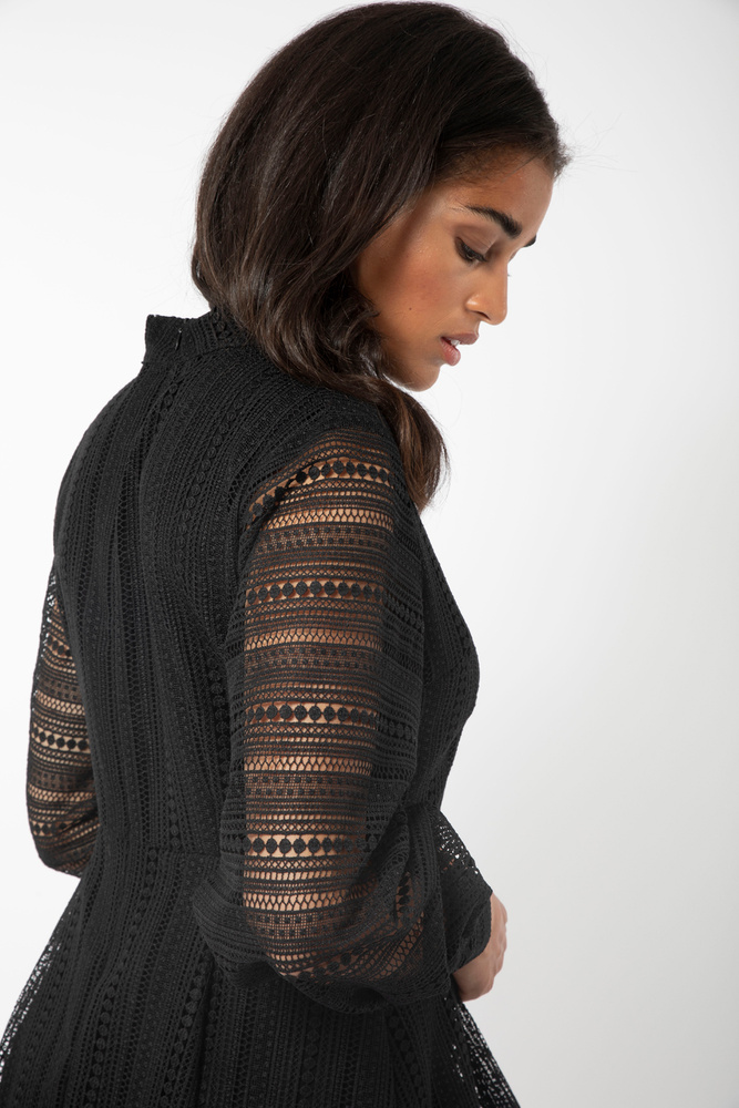 Celosia Lace Dress Black